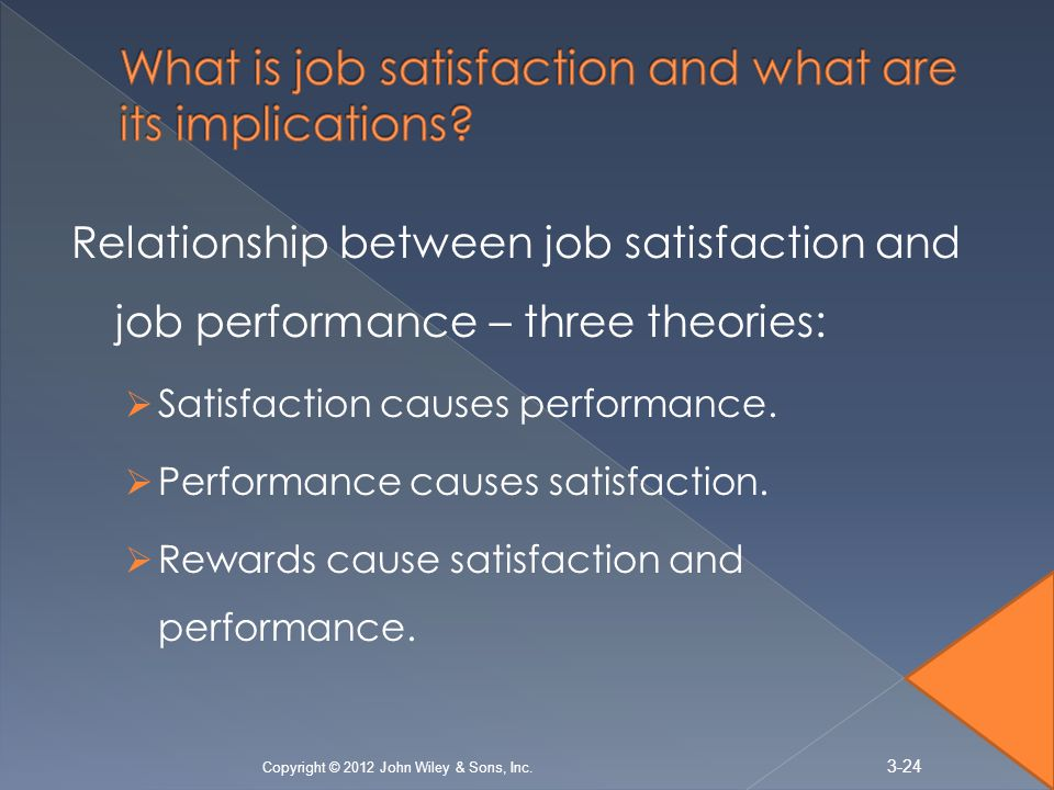 attitudes and job satisfaction chapter 3 ppt 1 job satisfaction 2 definition of job satisfaction 3 theories of job  this could  be the job in general or their attitudes towards specific aspects.