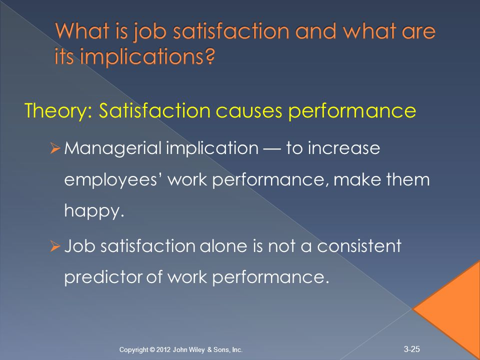conclusion job satisfaction Moderates the relationship between job satisfaction and employee turnover intention (see figure 1) in other words, if there are two employees with equal job satisfaction but one employee has.