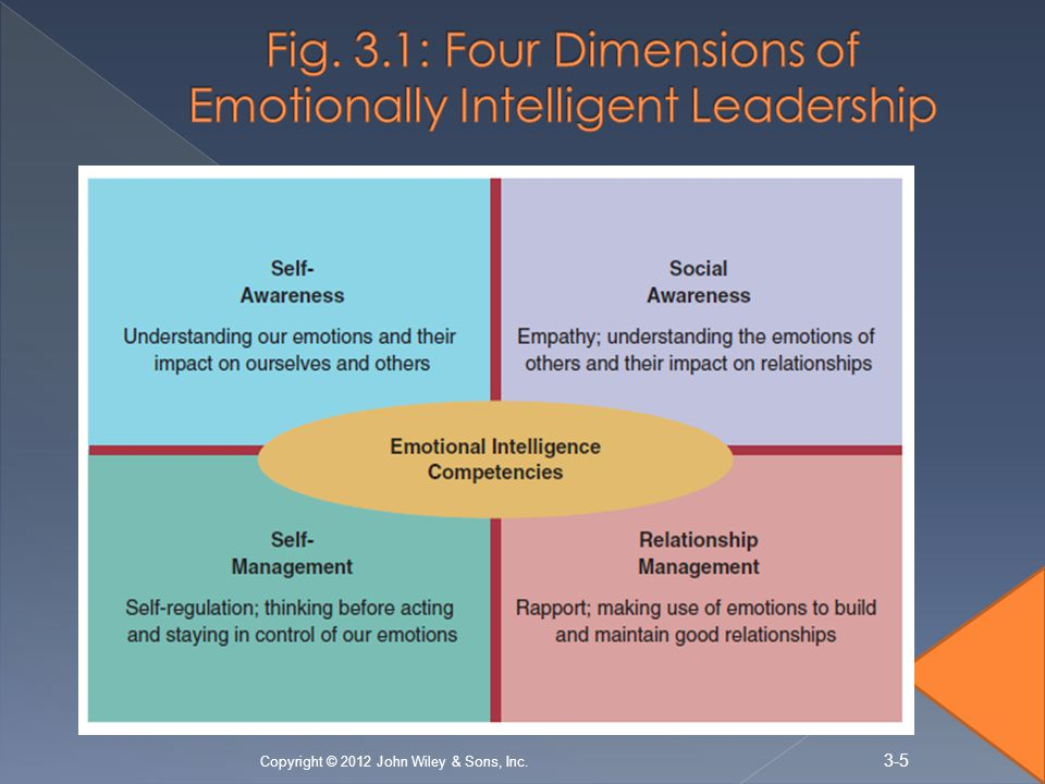 Fig. 3.1: Four Dimensions of Emotionally Intelligent Leadership