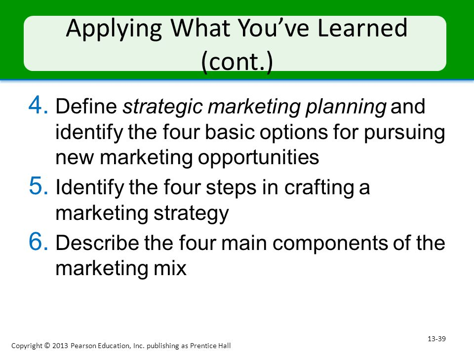 marketing mix what i have learnt I have learnt a lot about all aspects of working both as part of a facets of the marketing mix, described here as product features, brand name, retail outlets.