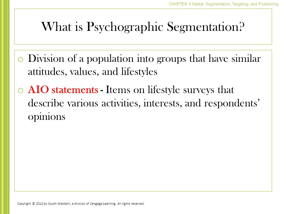 What is Psychographic Segmentation