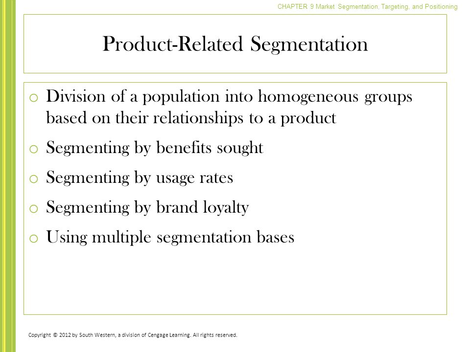 Product-Related Segmentation