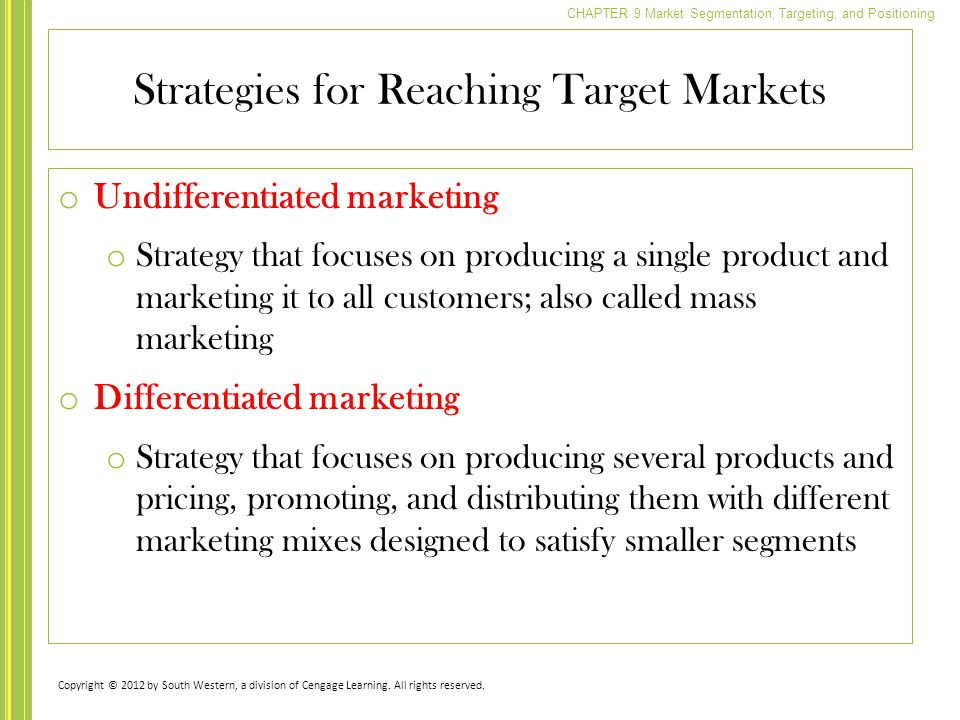 Strategies for Reaching Target Markets