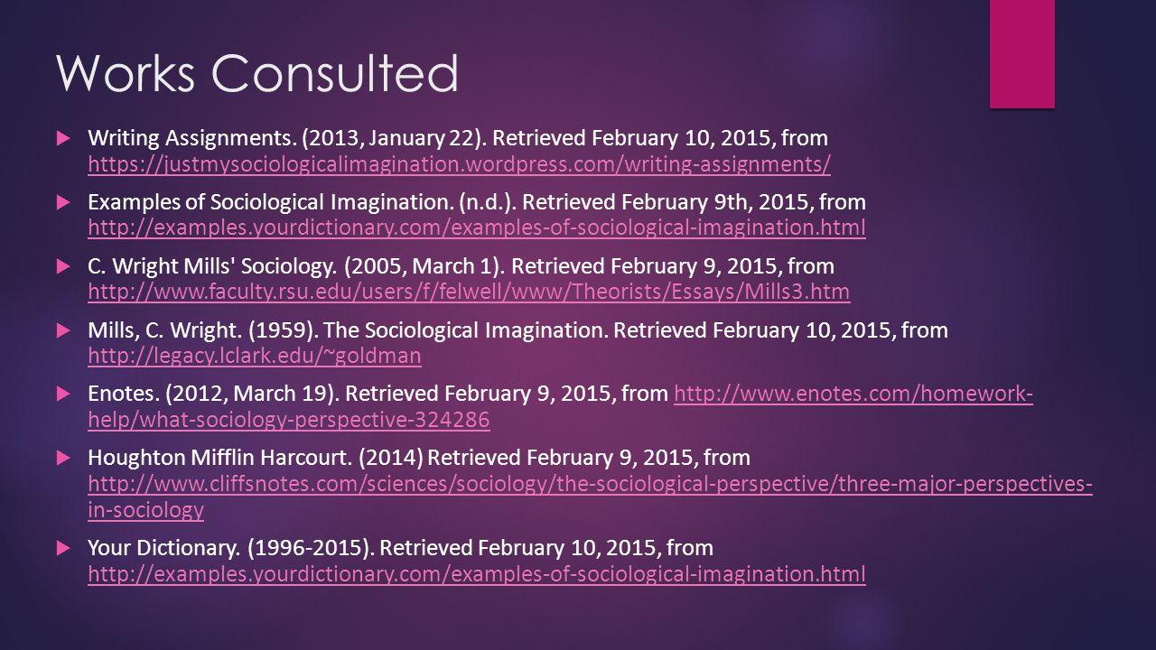 sociological perspective  u0026 social imagination