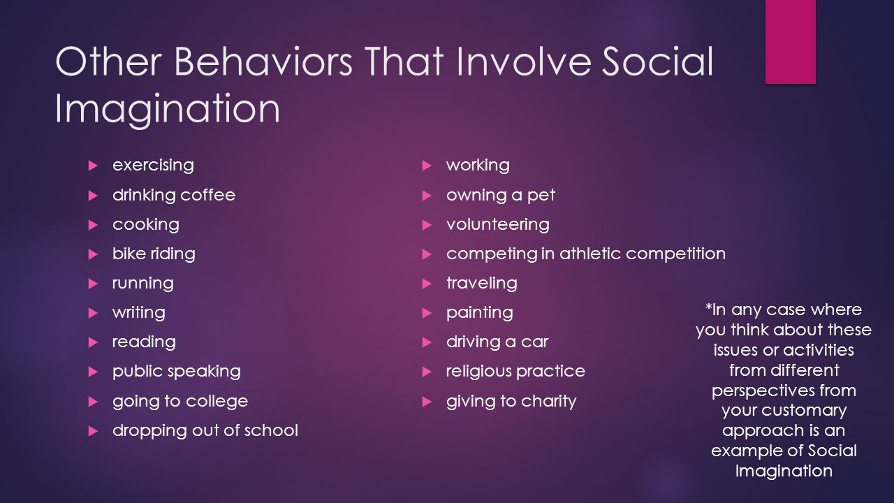 sociological perspective social imagination ppt video online  other behaviors that involve social imagination