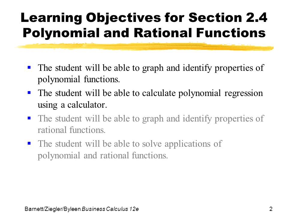 Higher-Degree Polynomial Functions: Tutoring Solution ...