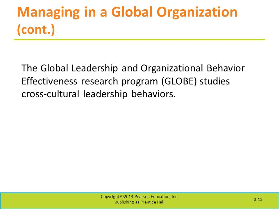 global leadership and organizational behavior Global leadership means something different to managers and policymakers, as  it does for scholars in organizational behavior, strategy,.