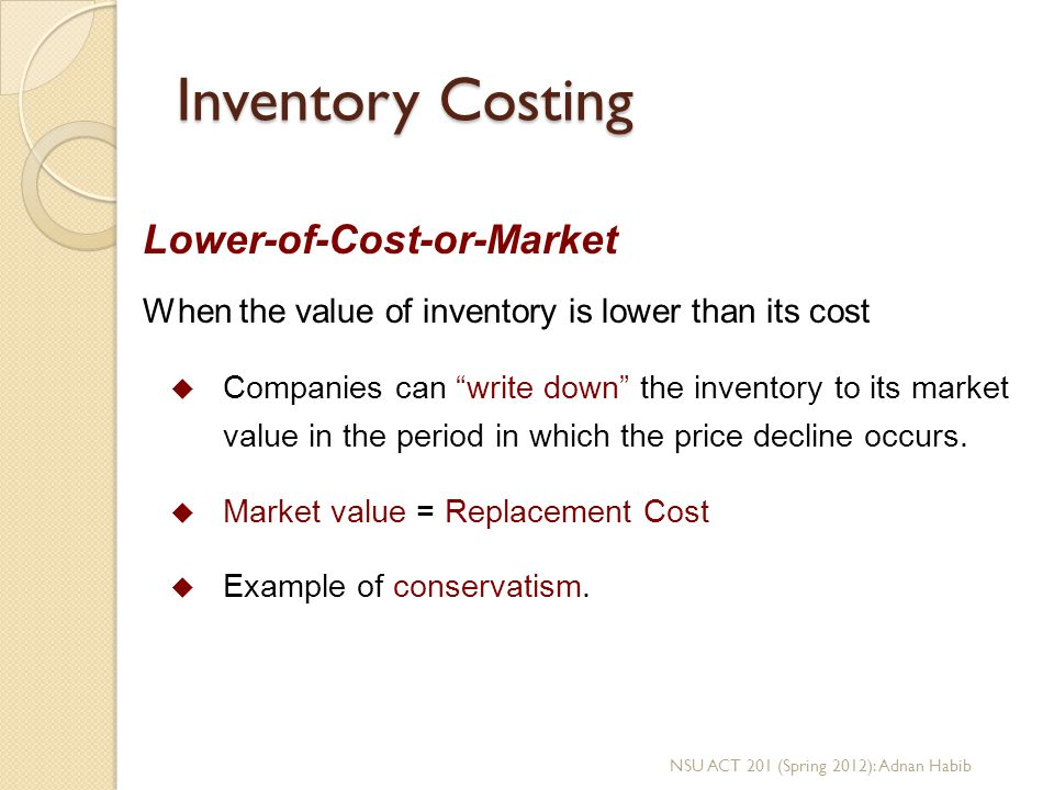 Inventory Costing Lower-of-Cost-or-Market