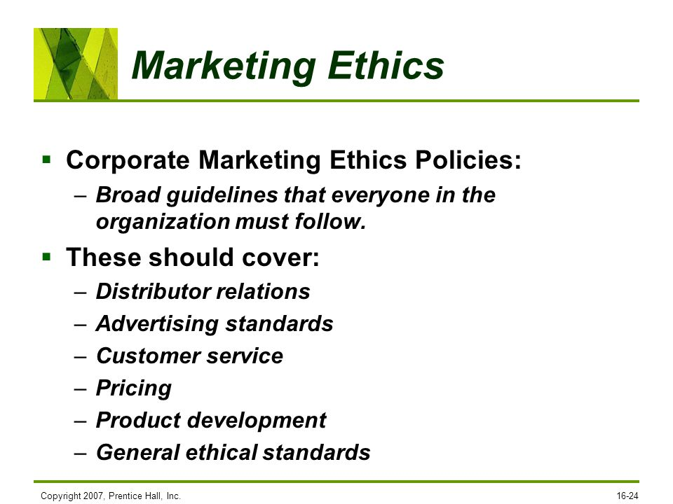 Marketing ethics and social responsibility ppt video for Product development inc