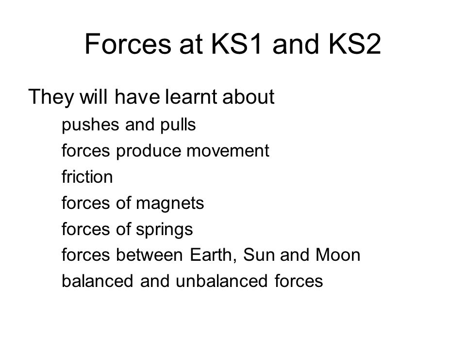 A Look At Some Ideas And Activities Involved In Teaching Forces At