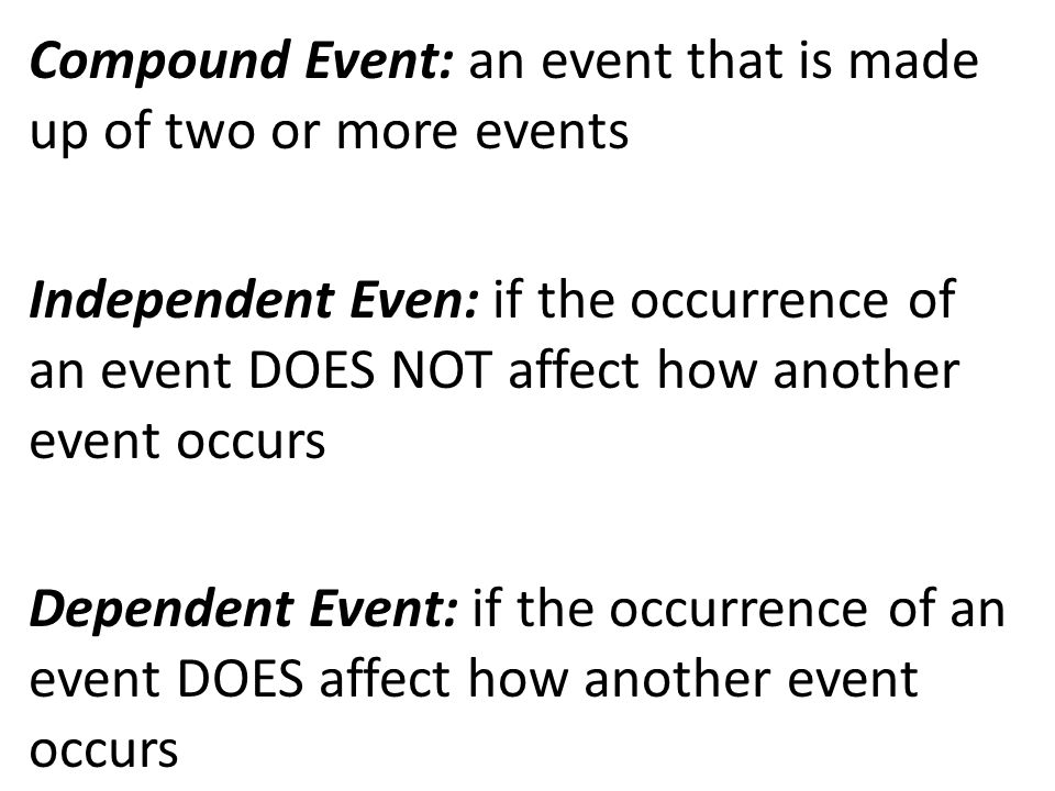 how to write that two events are independent