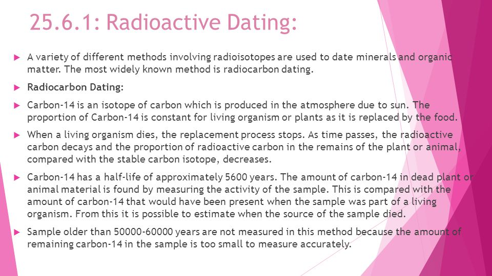 Absolute dating