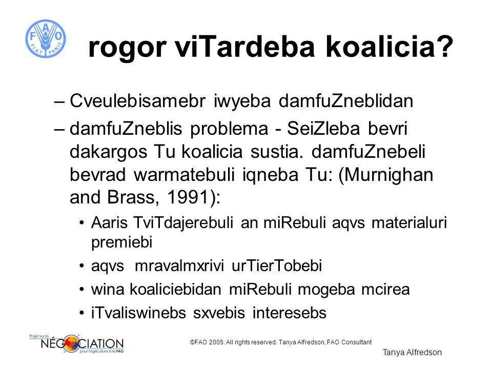 rogor viTardeba koalicia