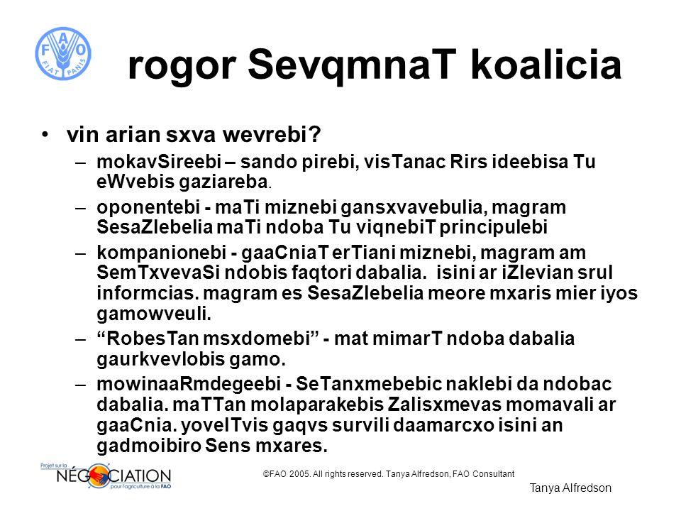 rogor SevqmnaT koalicia