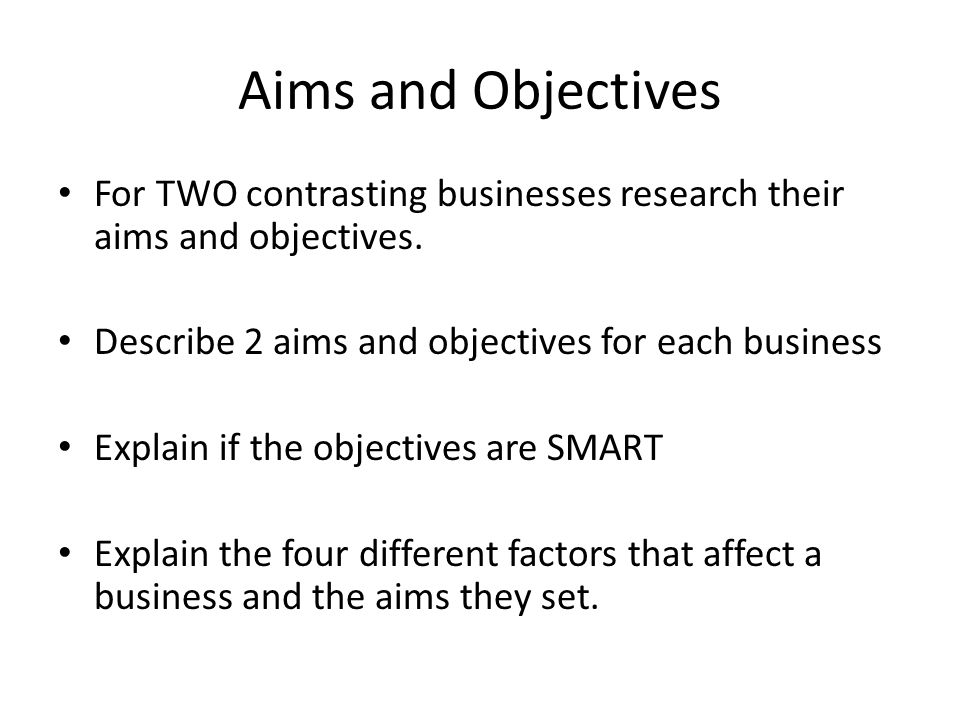 business studies coursework aims and objectives Below is an essay on business studies gcse coursework - unit 1 from anti essays, your source for research papers aims and objectives 5 business studies coursework gcse.