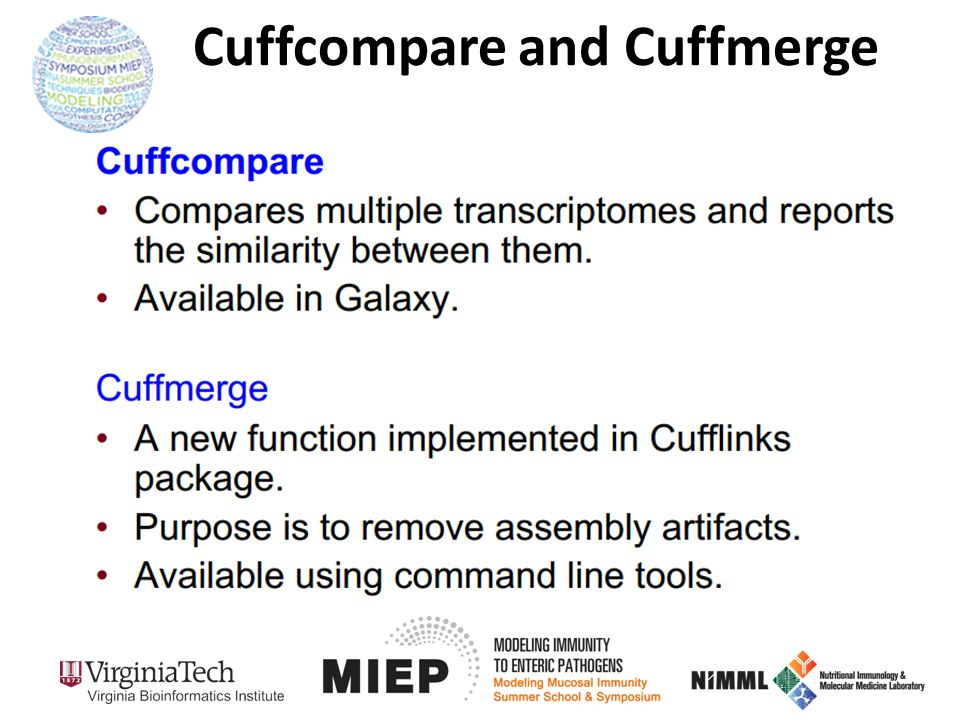 Cuffcompare and Cuffmerge