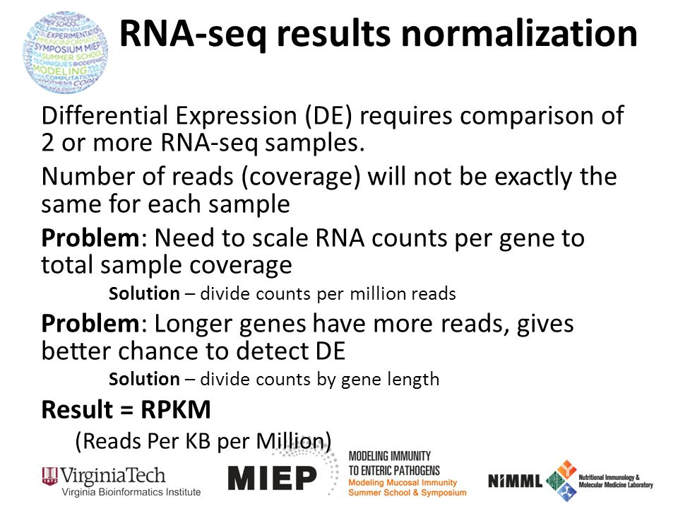 RNA-seq results normalization