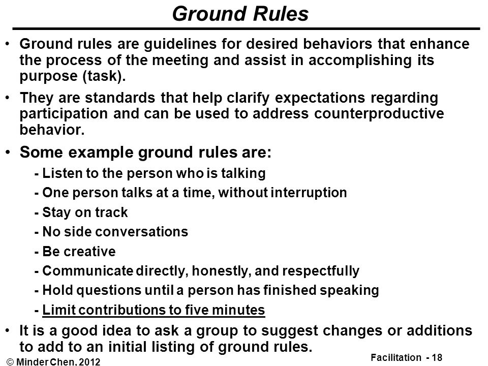 ground rules for behaviour essay Guide for setting ground rules whenever you hope to facilitate conversations on social justice concerns, whether preparing for a one-hour workshop or.