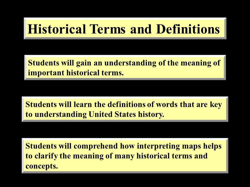 Historical Terms and Definitions