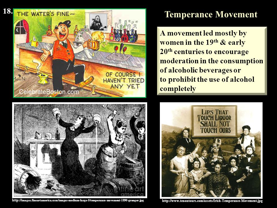 Temperance Movement 18. A movement led mostly by