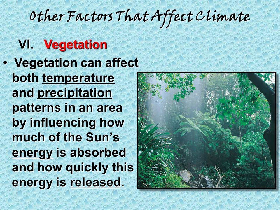 Other Factors That Affect Climate