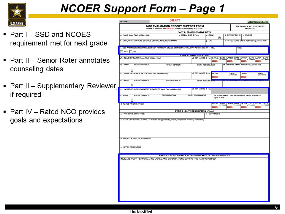 Revised Noncommissioned Officer Evaluation Reporting System - ppt ...