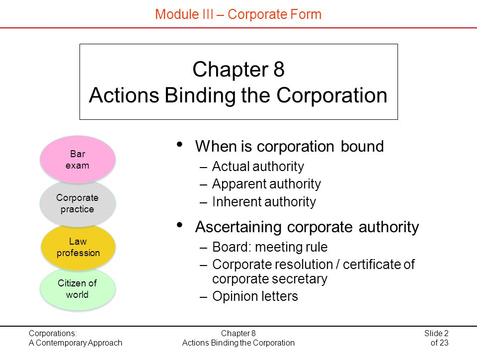 Actions Binding The Corporation - Ppt Download