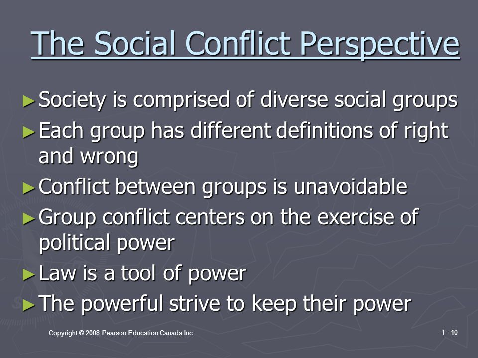 The Social Conflict Perspective