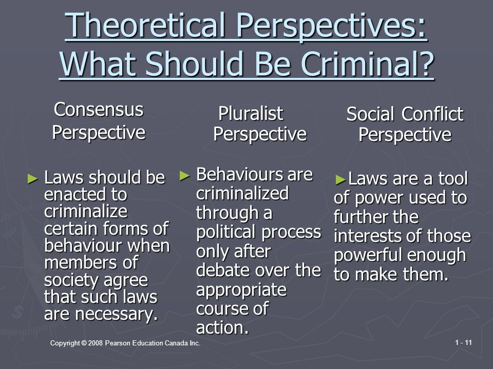 Theoretical Perspectives: What Should Be Criminal