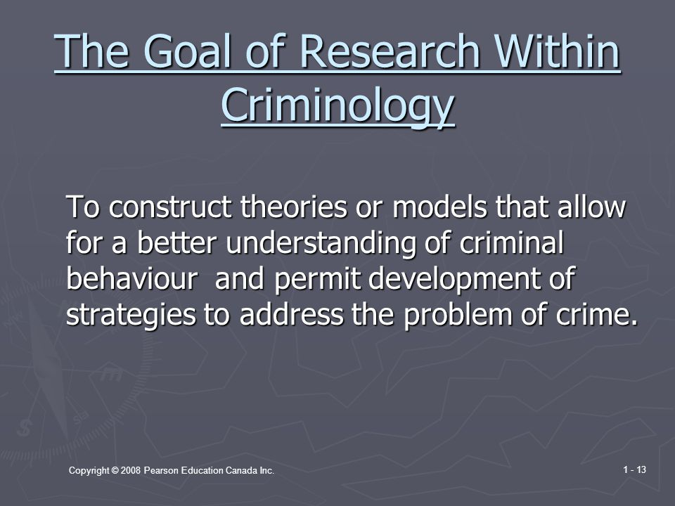 The Goal of Research Within Criminology