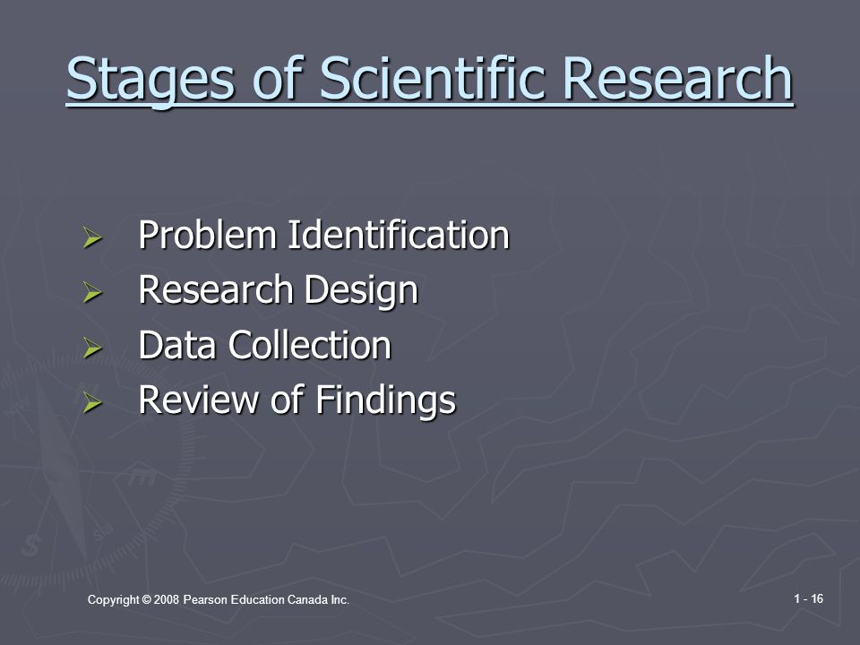 Stages of Scientific Research