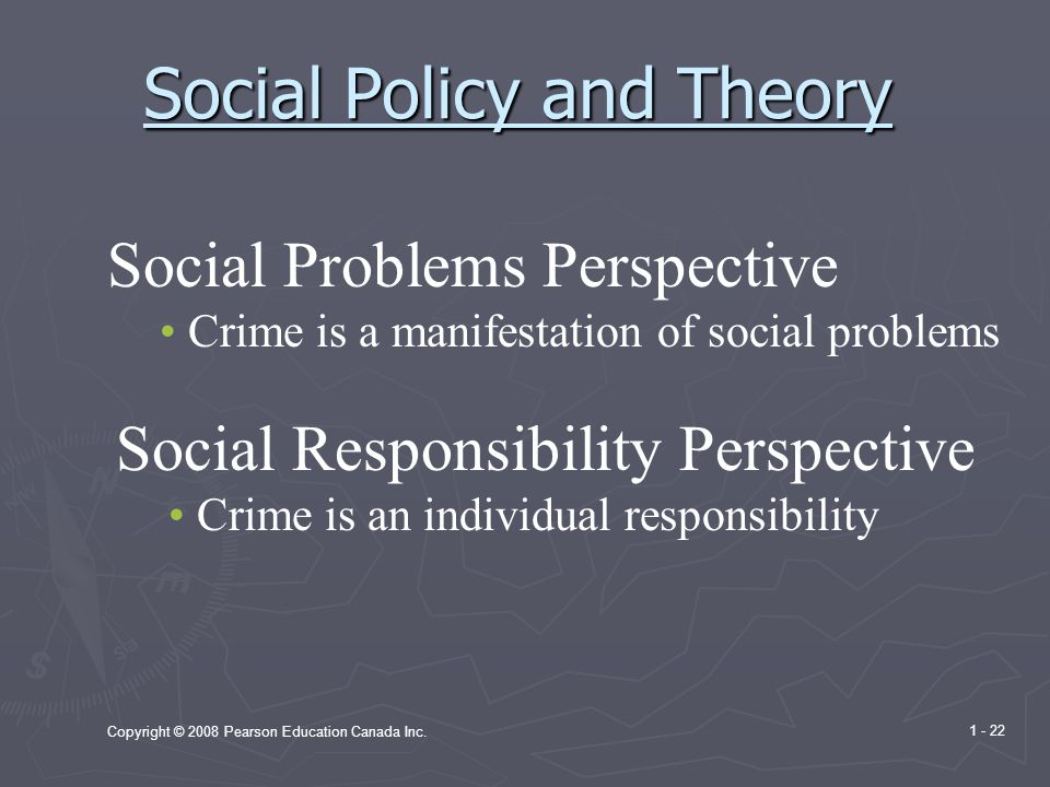 Social Policy and Theory