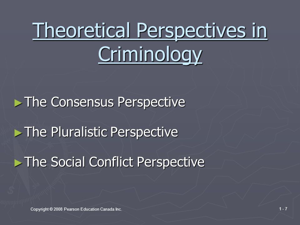 Theoretical Perspectives in Criminology
