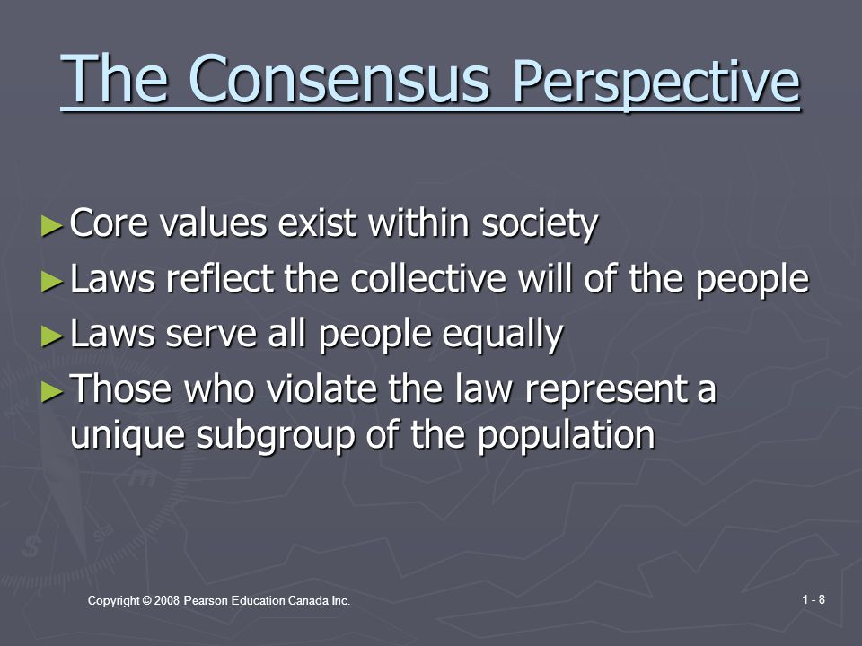The Consensus Perspective