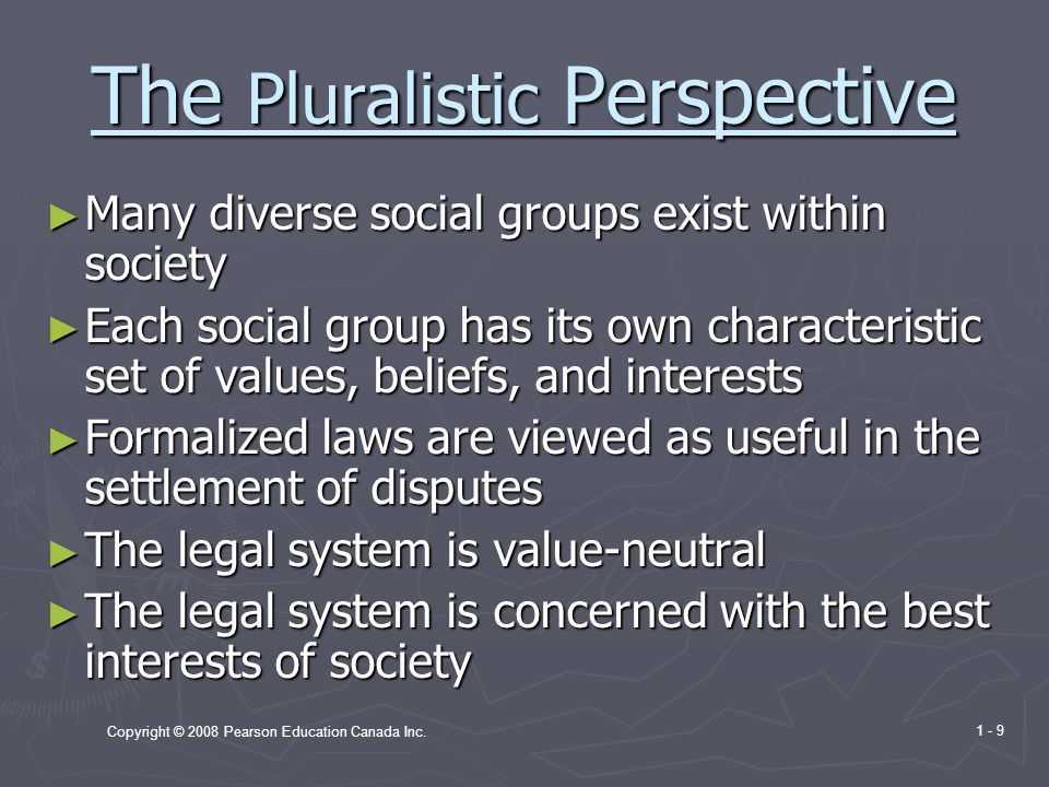 The Pluralistic Perspective