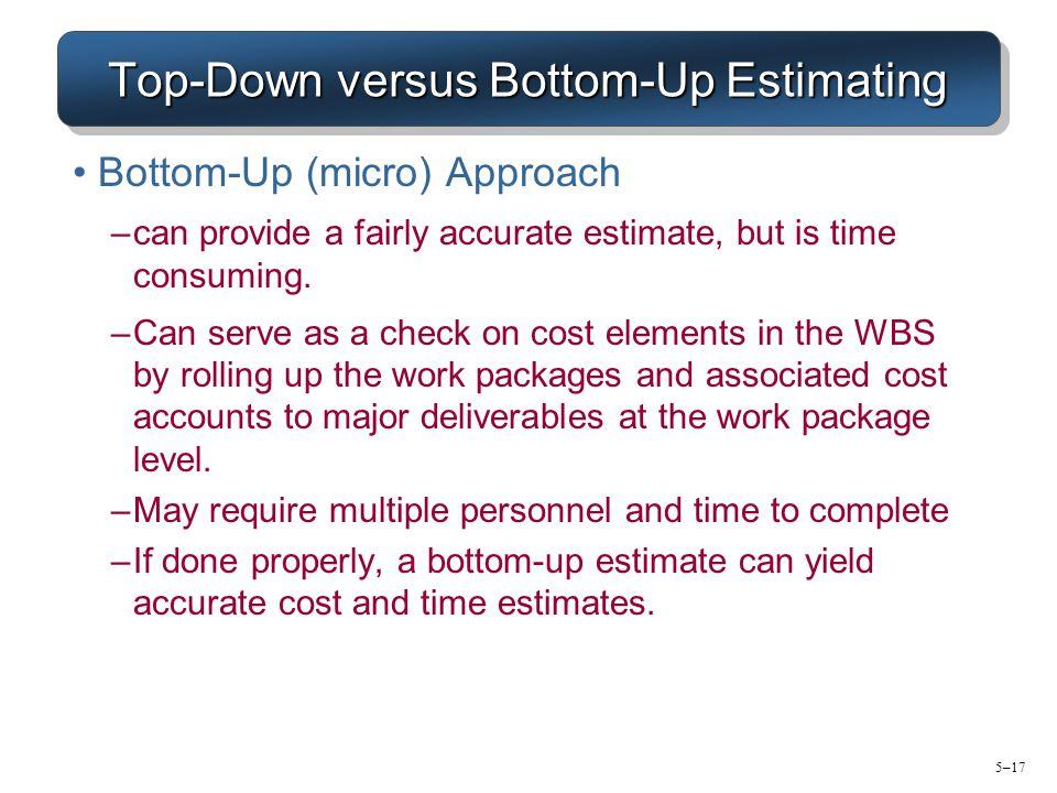 top down vs bottom up change