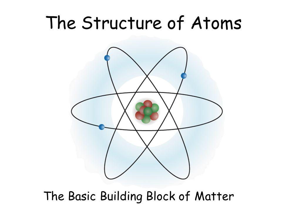 The Basic Building Block of Matter - ppt video online download