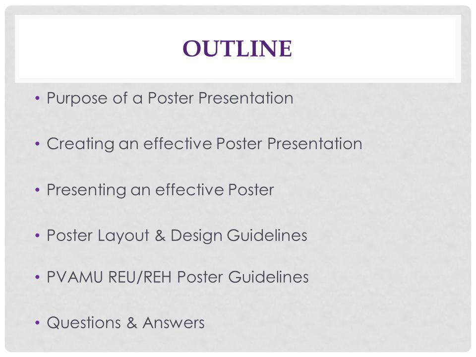 Creating & Giving an effective poster presentation - ppt ...