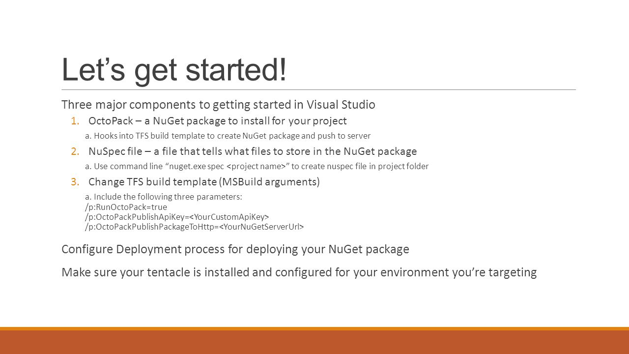 how to create deployment package in visual studio 2013