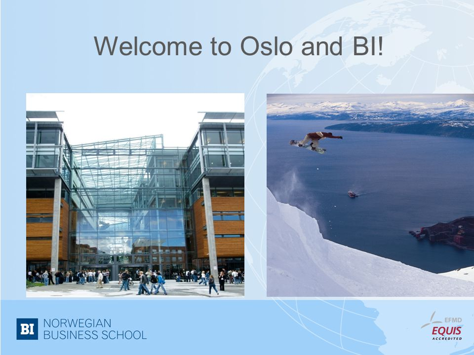 Welcome to Oslo and BI!