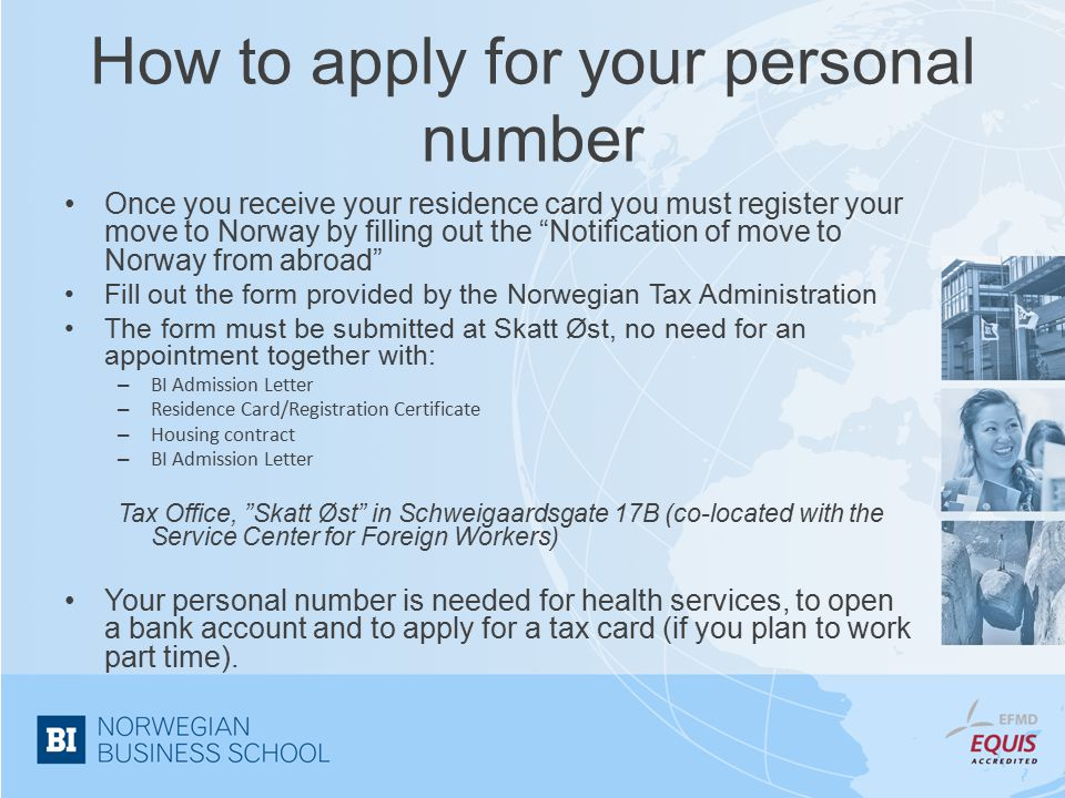 How to apply for your personal number