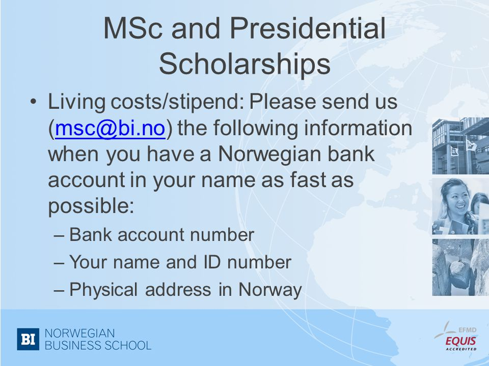 MSc and Presidential Scholarships