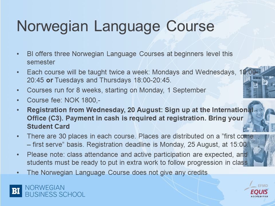 Norwegian Language Course