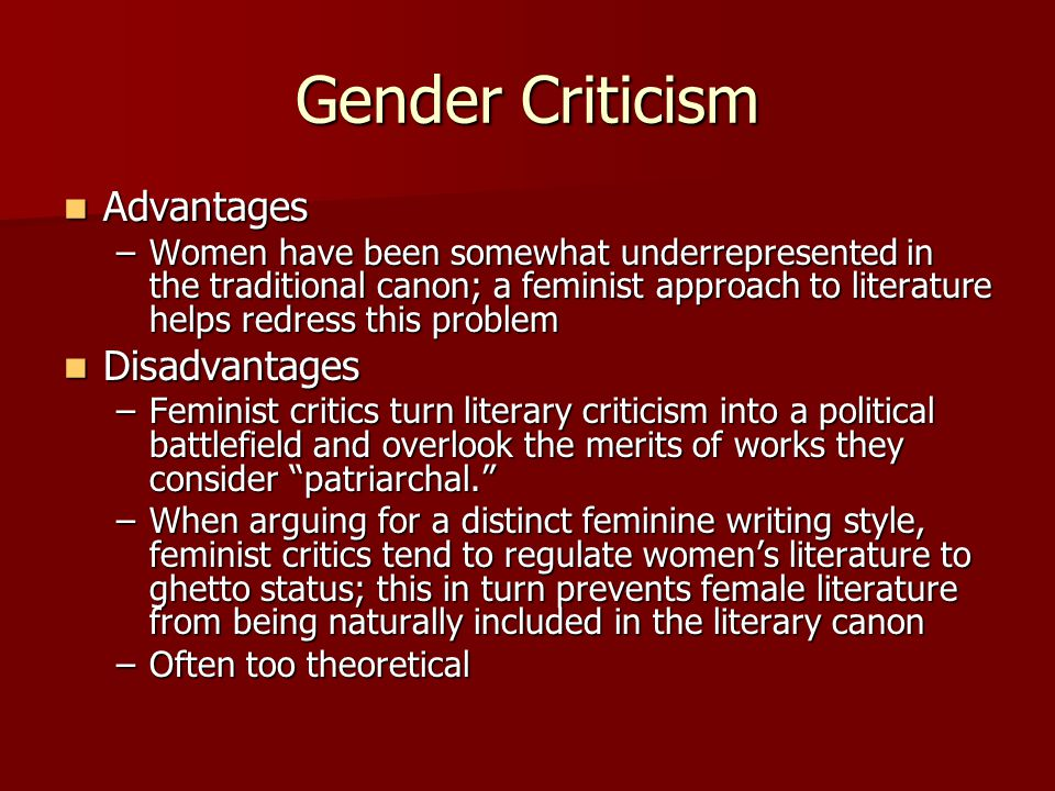 gender criticism in literature