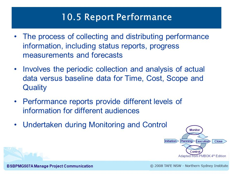 10.5 Report Performance