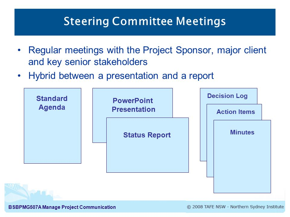 Steering Committee Meetings