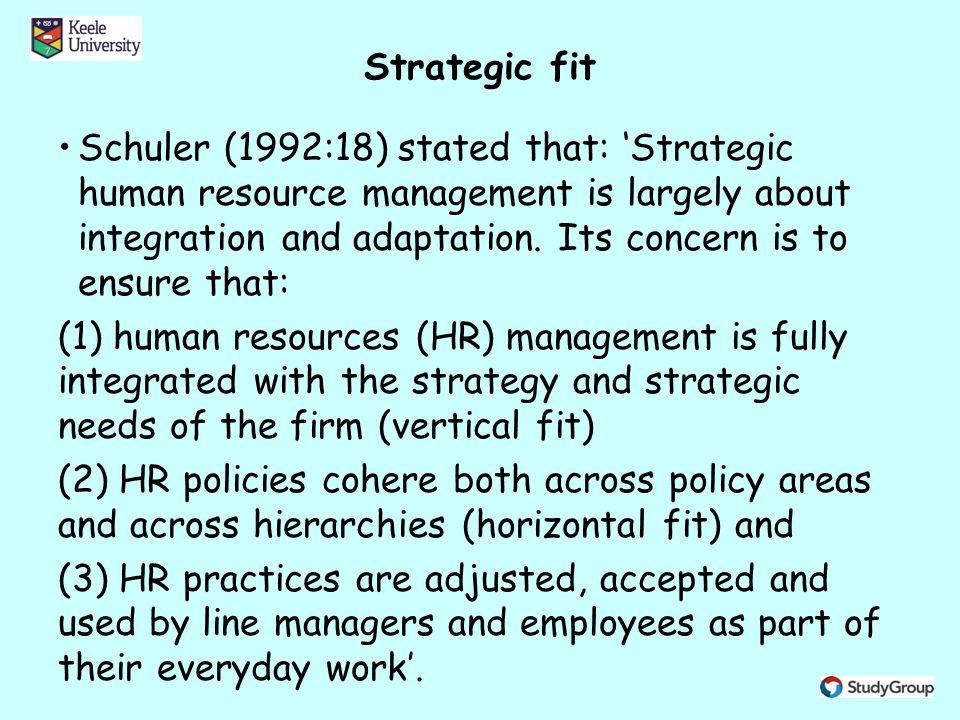 integrating strategy and human resource management essay This essay is concerned with the strategic  keywords: integrated, interact,  strategic, change, innovation, npd  believe human resource management  drives the whole organization, others think marketing should be the most  essential.