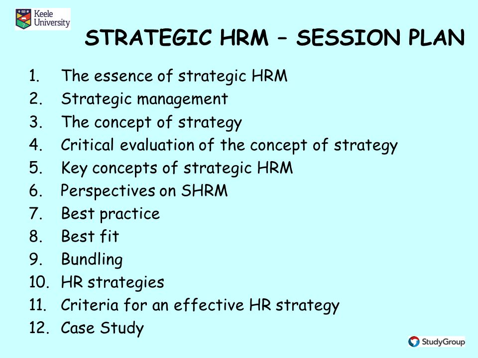 concept of strategic human resource management essay Applying resource based view to strategic human  the resource-based view to strategic human resource management  this essay will show various ways on how.