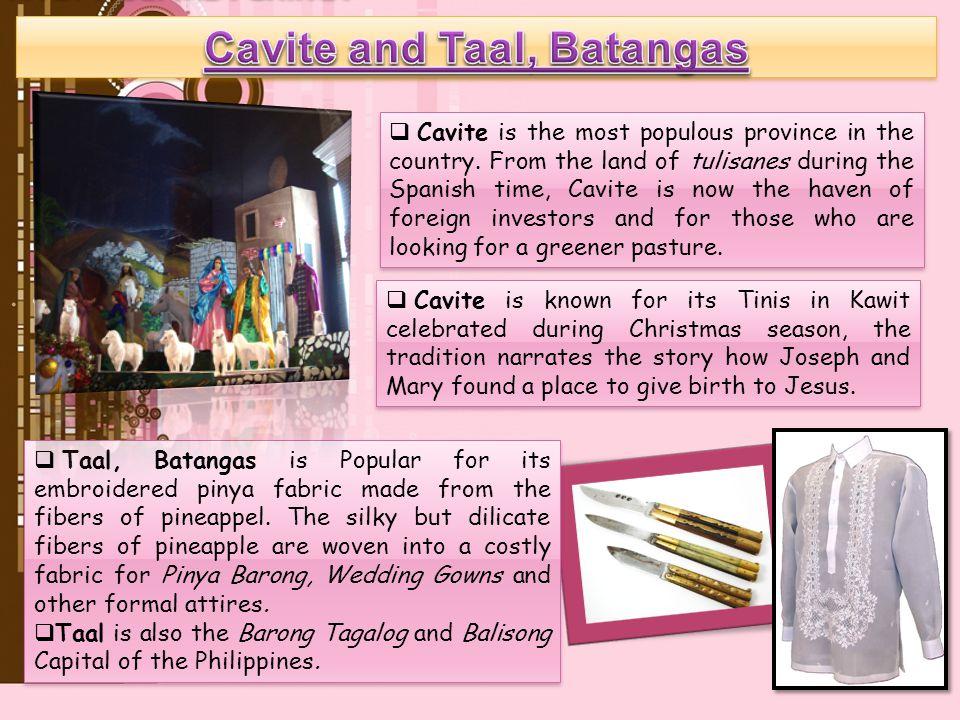 Cavite and Taal, Batangas