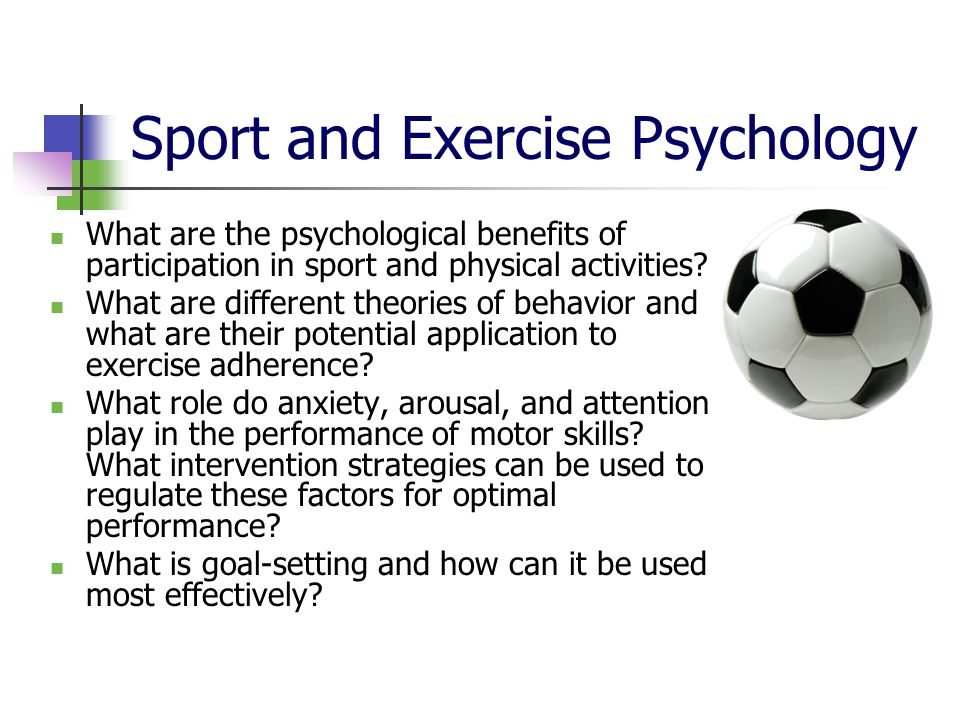 sport and exercise psychology ppt video online download